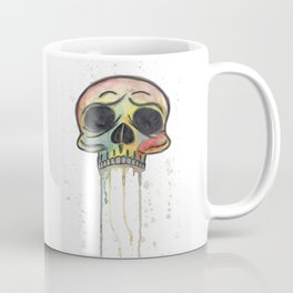 Dripping Rainbow Skull Coffee Mug