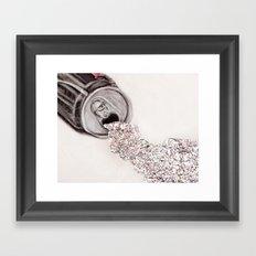 Zero Calories Framed Art Print