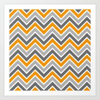 chevron Art Prints featuring Chevron by eARTh