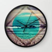 phil jones Wall Clocks featuring Jones by Indigo22