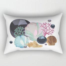 shells and corals Rectangular Pillow