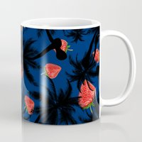 strawberry Mugs featuring strawberry  by mark ashkenazi