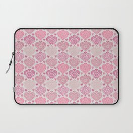 Pink Heart Valentine's Doilies Pattern Laptop Sleeve