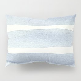 Minimalist Blue Watercolor Pillow Sham