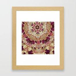 Maroon Ginko Framed Art Print