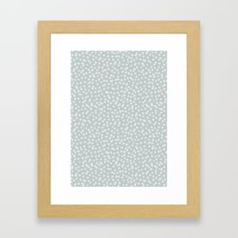 SILVER STARS CONFETTI Framed Art Print