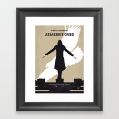 No798 My Assassins Creed minimal movie poster Framed Art Print