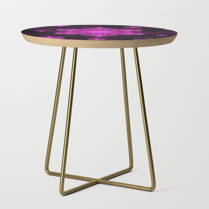 Starry Snow Spiral Side Table