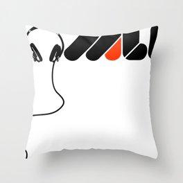 TROMLIFE Headphones Throw Pillow