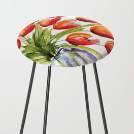 Tulips Overflowing Counter Stool