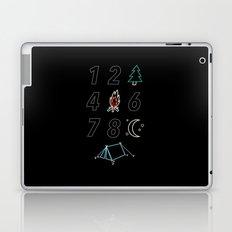 1 2 tree 4 fire 6 7 8 night tent Laptop & iPad Skin