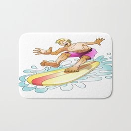Surfer surfing on the wave Bath Mat