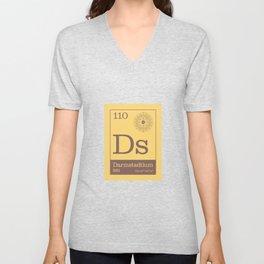 Periodic Elements - 110 Darmstadtium (Ds) Unisex V-Neck