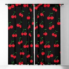 Cherries 2 (on black) Blackout Curtain