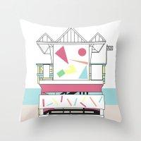 miami Throw Pillows featuring Miami by Elena Éper