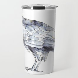 Hawk, Study in Blue and Black Travel Mug