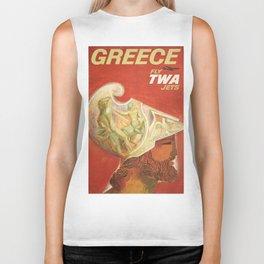 Vintage poster - Greece Biker Tank