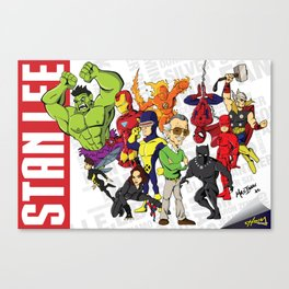 Stan Lee: Legacy of an Icon Canvas Print