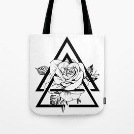 Gometric rose Tote Bag