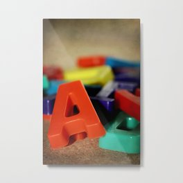 Alphabet Fun Metal Print