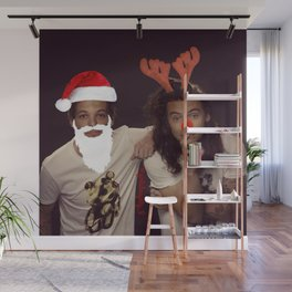 Noel and Rudolph - Larry Stylinson Christmas Wall Mural