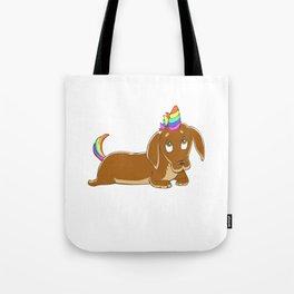 Weinercorn  Unicorn Weiner Dog Dachshund Tote Bag