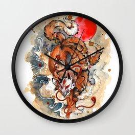Kitsune Wall Clock