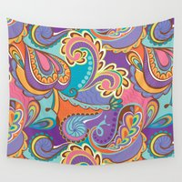 paisley Wall Tapestries featuring Paisley by Struthers Studios