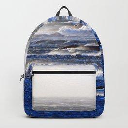 Wind Blown Stormy Seas Backpack
