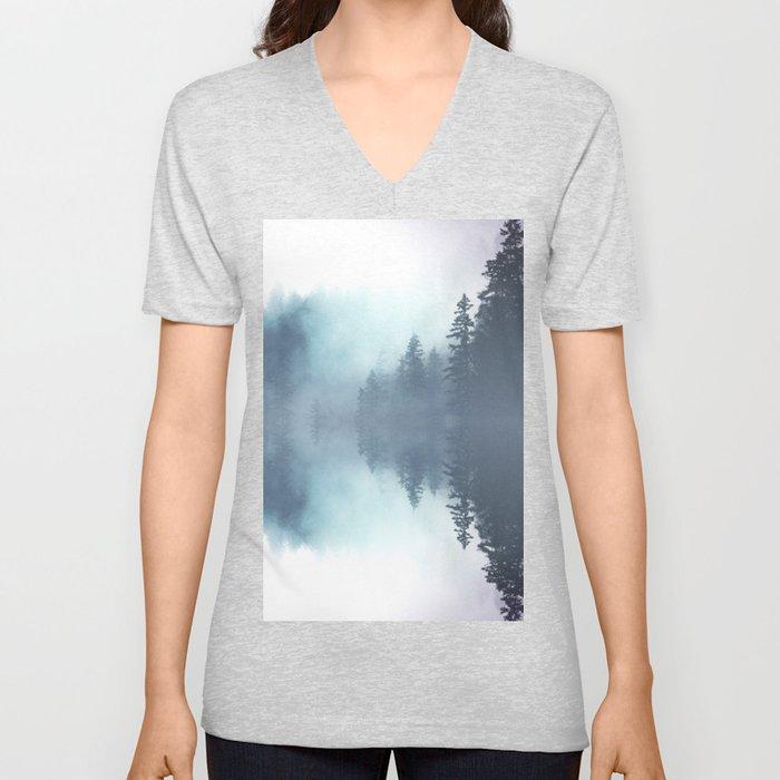 Forest Reflections Unisex V-Neck