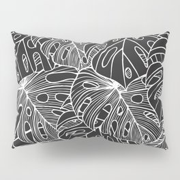 B&W Philodendron Pillow Sham
