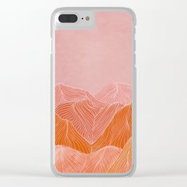 Lines in the mountains - pink II Clear iPhone Case