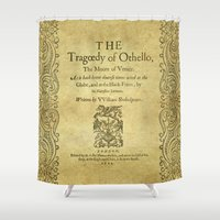 shakespeare Shower Curtains featuring Shakespeare. Othello, 1622. by BiblioTee
