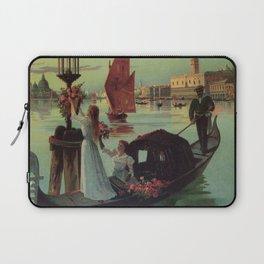 Paris Venice Victorian romantic travel Laptop Sleeve