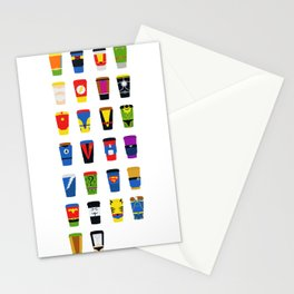 Superheroes Villains Mix  Stationery Cards