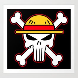 Straw Hat punisher Art Print