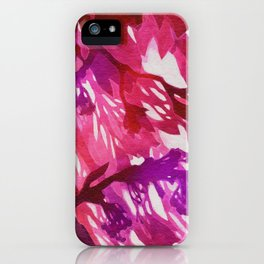 Morning Blossoms 2 - Magenta Variation iPhone Case