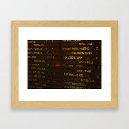 Brussels VIII Framed Art Print