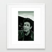 lou reed Framed Art Prints featuring Lou Reed by Simone Bellenoit : Art & Illustration