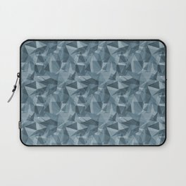 Abstract Geometrical Triangle Patterns 3 Behr Blueprint Blue S470-5 Laptop Sleeve