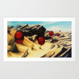 March of the Red Balloons #5 Art Print
