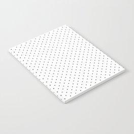 Minimal Black Polka Dots Notebook