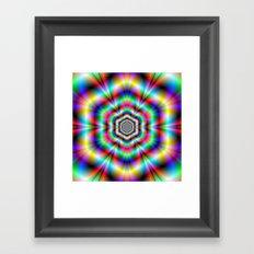 Psychedelic Hexagon Rings Framed Art Print