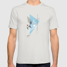 Everything Starts with a Dot Silver Mens Fitted Tee MEDIUM