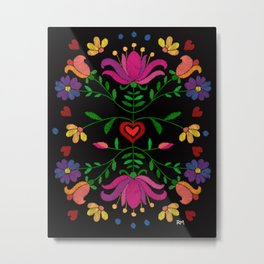 Colorful Mexican Embroidery Metal Print