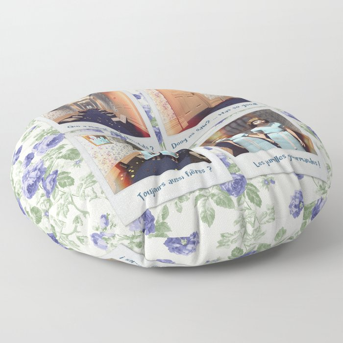 Jumelles et Chocolat Floor Pillow