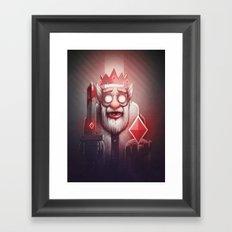 King of Doom Framed Art Print