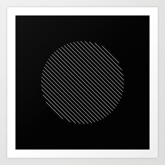 Tilt - Black and White Minimalism Abstract Art Print