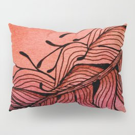 Doodled Autumn Feather 01 Pillow Sham