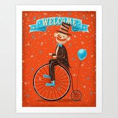 Penny-farthings circus Art Print